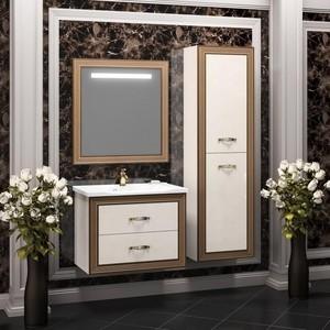 Мебель для ванной Opadiris Карат 80 белое золото opadiris мебель для ванной opadiris карат 80 серебряная патина