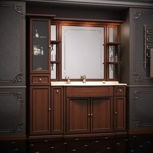 Мебель без раковины и столешницы Opadiris Корсо Оро 174 № 6 пенал слева, светлый орех Р10 с патиной (Z0000005438)