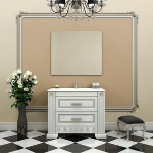 Мебель для ванной Opadiris Оникс 100 белый глянцевый/серебро
