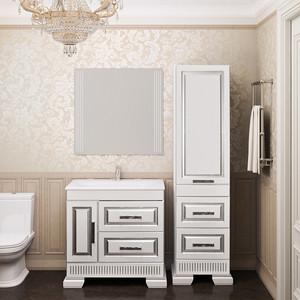 Мебель для ванной Opadiris Оникс 80 белый глянцевый/серебро