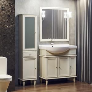 Мебель для ванной Opadiris Санрайз 90 левая, слоновая кость 1013