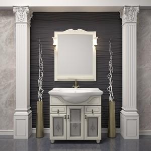 Мебель для ванной Opadiris Тибет 80 белый матовый 9003 с художественным стеклом