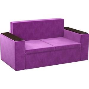 Детский диван Мебелико Арси микровельвет фиолетовый