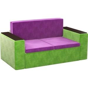 Детский диван АртМебель Арси микровельвет фиолетово-зеленый