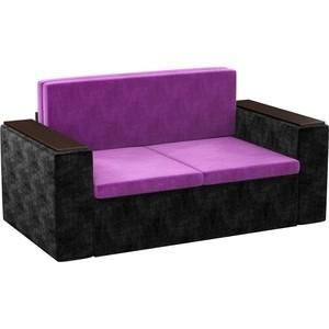 Детский диван АртМебель Арси микровельвет фиолетово-черный