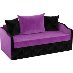 Детский диван АртМебель Дороти микровельвет фиолетово-черный детский диван артмебель дороти микровельвет черно фиолетовый
