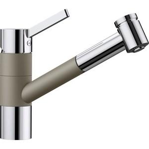 Смеситель для кухни Blanco Tivo-S Silgranit с выдвижным изливом, серый беж (517619)