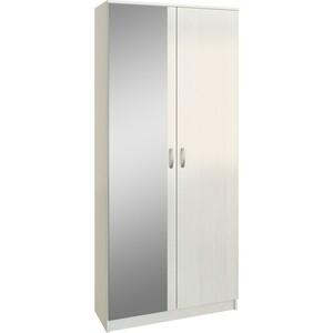 Шкаф двухдверный с зеркалом Мастер Ольга (белый) МСТ-ПДО-Ш2-БТ-З2