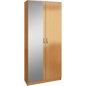 Шкаф двухдверный с зеркалом Мастер Ольга (бук) МСТ-ПДО-Ш2-БК-З2
