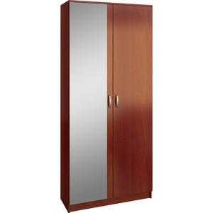 Шкаф двухдверный с зеркалом Мастер Ольга (орех итальянский) МСТ-ПДО-Ш2-ОИ-З2 цена