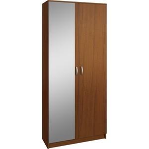 Шкаф двухдверный с зеркалом Мастер Ольга (орех) МСТ-ПДО-Ш2-ОР-З2