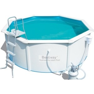 Стальной бассейн Bestway Hydrium Pool Set 300x120 см (56566 ) 7630 л каркасный бассейн bestway 56464 549х132 см 26000 л