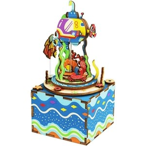 Деревянный 3D конструктор Robotime Музыкальная шкатулка *Under The Sea* - AM406