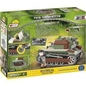 Конструктор COBI Пластиковый Танк TKS Tankette - COBI-2383 конструктор cobi christmas time