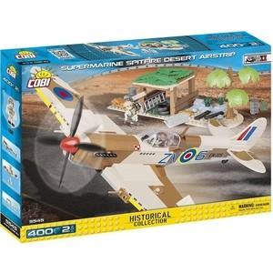 Конструктор COBI Пластиковый Самолет Supermarine Spitfire Desert Airstrip - COBI-5545