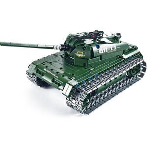 Конструктор Double E Cada Technics Радиоуправляемый танк QiHui 4CH 2.4G 453 деталей - QH8011
