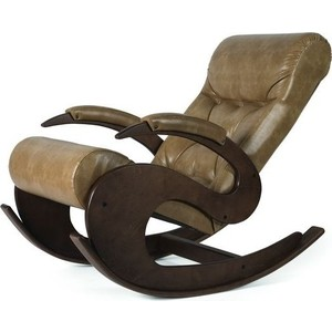 Кресло-качалка Мебелик Тенария 6 кофе с молоком/каркас темно-коричневый