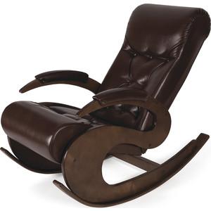 Кресло-качалка Мебелик Тенария 6 темно-коричневый
