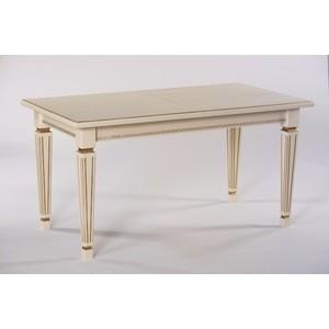 Стол обеденный Мебелик Васко 02 слоновая кость/патина 150x80 стол обеденный мебелик жерар 03 слоновая кость патина 160 200х80