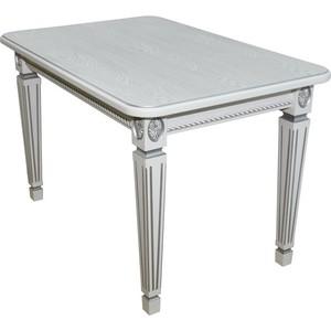 Стол обеденный Мебелик Меран 01 белый/патина 120/170х80