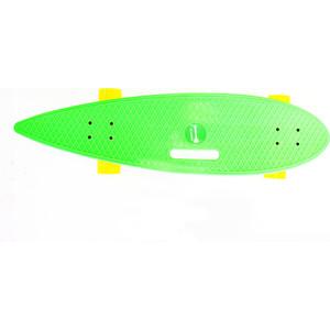 Скейтборд Hubster Cruiser 36 зеленый с желтыми колесами 9387П пенни борд hubster cruiser цвет фиолетовый зеленый дека 36