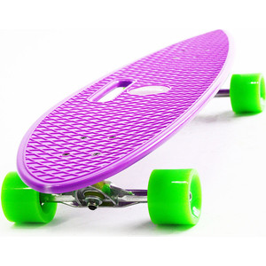 Скейтборд Hubster Cruiser 36 фиолетовый с зелеными колесами 9384П пенни борд hubster cruiser цвет фиолетовый зеленый дека 36
