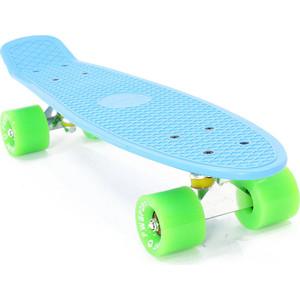 Скейтборд PWSport Classic 22 синий-зеленый ВО3775-3 скейтборд pwsport classic цвет розовый зеленый дека 22