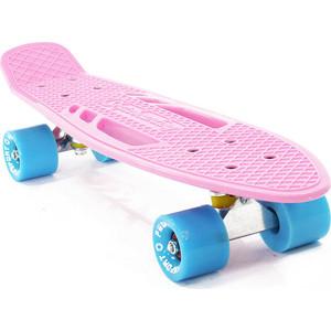 Скейтборд PWSport Fish 22 розовый ВО3778-2 скейтборд pwsport grip 22 chess во3779 2