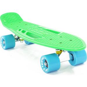 Скейтборд PWSport Fish 22 зеленый ВО3778-3 скейтборд pwsport grip 22 chess во3779 2