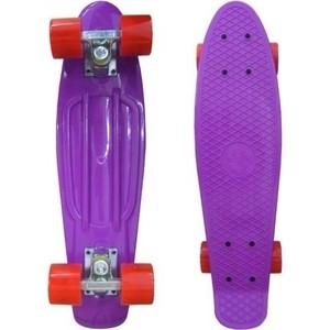 Скейтборд Ecobalance Ecobalance фиолетовый с красными колесами ОВ-2161 недорго, оригинальная цена