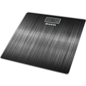 Весы напольные Marta MT-1677 черный электронные напольные весы marta mt 1663 титан