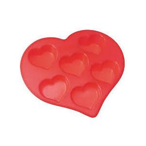 Форма для кексов 6 ячеек 26.5х25.5х4 см Regent Silicone сердечки (93-SI-FO-19)