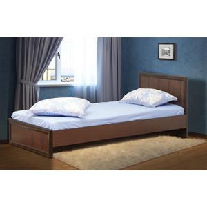Кровать двойная Олимп 06.258 Волжанка венге/крок коричневый 90x200