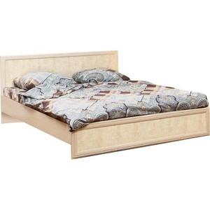 Кровать Олимп 06.260 Волжанка дуб линдберг/крок кремовый ортопедическое основание 160x200