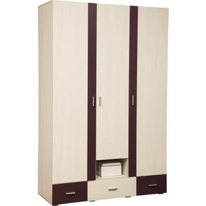 Шкаф для одежды Олимп 06.19 Next вудлайн кремовый/баклажан