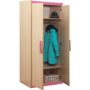 Шкаф комбинированный Олимп Лайф-2 дуб линдберг/розовый