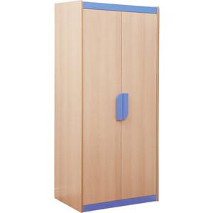 Шкаф комбинированный Олимп Лайф-2 дуб линдберг/голубой