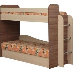 Кровать двухярусная Олимп Адель-4 ясень шимо темный/дуб линдберг цена