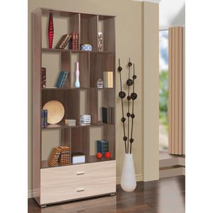 Шкаф комбинированный Олимп Визит - 12 ясень темный/светлый