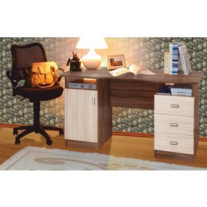 Стол письменный Олимп 2-х тумбовый ясень шимо светлый/темный стол тумба олимп м 04 ясень темный светлый