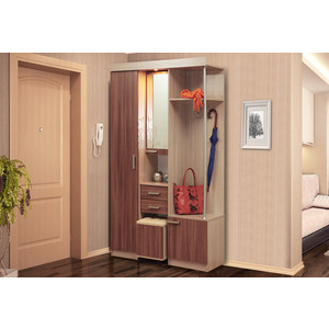 Шкаф комбинированный Олимп Дебют - 4 ясень светлый/ясень темный