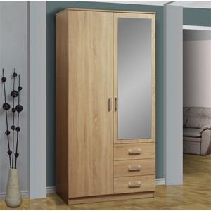 Шкаф комбинированный Олимп 06.290 дуб сонома зеркало цена в Москве и Питере
