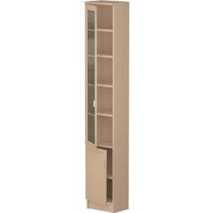 Шкаф Олимп В-17 дверь комбинированная дуб линдберг