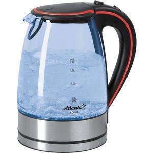 лучшая цена Чайник электрический Atlanta ATH-691 черный/красный