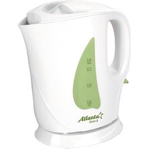 Чайник электрический Atlanta ATH-717 зеленый цена и фото