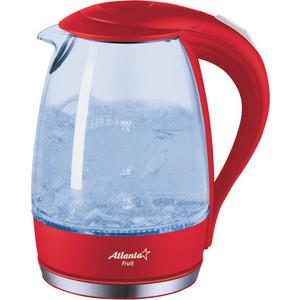 Чайник электрический Atlanta ATH-2461 красный недорго, оригинальная цена