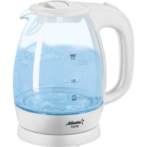 Чайник электрический Atlanta ATH-2465 белый цена и фото