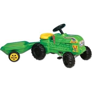 Трактор Dohany Фермер с прицепом на педалях 102 viking toys трактор экскаватор с прицепом джамбо