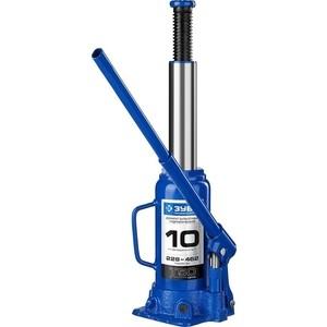 Домкрат гидравлический бутылочный Зубр 10т, T50 Профессионал (43060-10-z01)