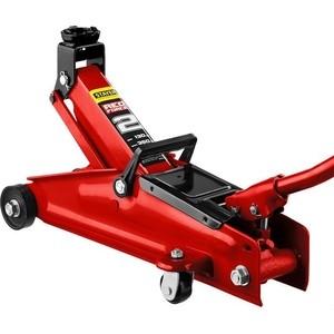 Домкрат подкатной гидравлический Stayer 2т, Red Force в кейсе (43153-2-K) домкрат гидравлический подкатной big red t82000kit